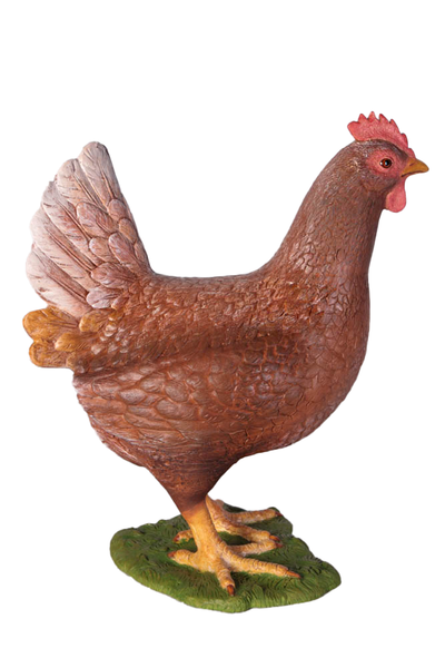Brown Chicken Life Size Statue - LM Treasures