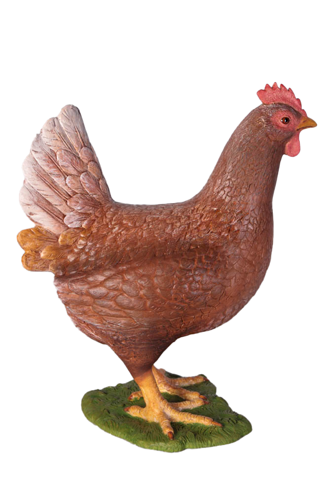 Brown Chicken Life Size Statue - LM Treasures Life Size Statues & Prop Rental