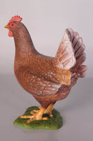 Brown Chicken Life Size Statue