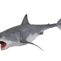 Great White Shark Life Size Statue - LM Treasures Life Size Statues & Prop Rental