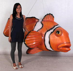 Clown Fish Life Size Statue - LM Treasures