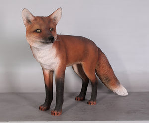 Red Fox Life Size Statue - LM Treasures Life Size Statues & Prop Rental