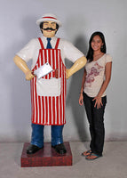 Butcher Statue Life Size Display Prop - LM Treasures Life Size Statues & Prop Rental