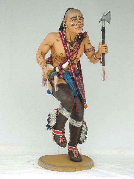 Indian Rain Dancing Life Size Statue - LM Treasures