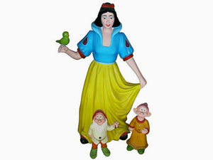 Cartoon Princess & Dwarfs Life Size Statue - LM Treasures Life Size Statues & Prop Rental