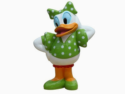 Cartoon Celebrity Duck White Female Movie Hollywood Prop Decor Statue - LM Treasures Life Size Statues & Prop Rental