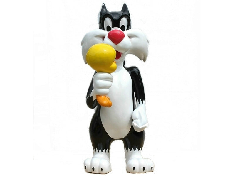 Cartoon Cat And Bird Life Size Statue - LM Treasures Life Size Statues & Prop Rental