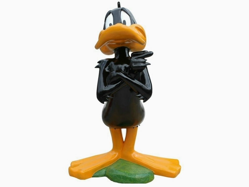 Cartoon Black Duck Life Size Statue - LM Treasures Life Size Statues & Prop Rental