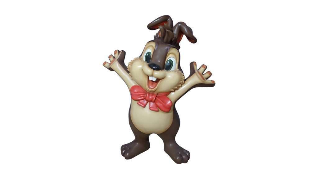Comic Rabbit Bunny Standing Easter Prop Resin Display Decor Statue- LM Treasures