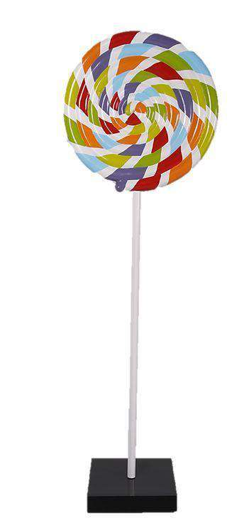Rainbow Swirl Lollipop Over Sized Statue - LM Treasures Life Size Statues & Prop Rental