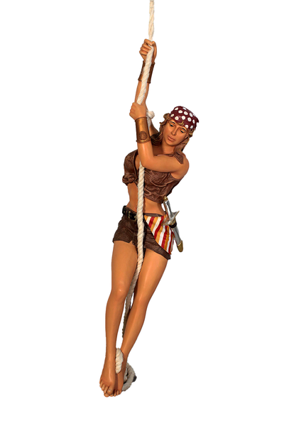 Hanging Lady Pirate In Skirt Life Size Statue - LM Treasures Life Size Statues & Prop Rental
