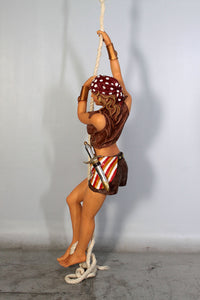 Hanging Lady Pirate In Skirt Life Size Statue - LM Treasures