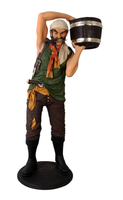 Pirate Captain With Bucket Life Size Statue - LM Treasures