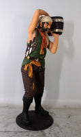 Pirate Captain With Bucket Life Size Statue - LM Treasures Life Size Statues & Prop Rental