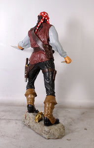 Pirate Captain Cristobal Life Size Statue - LM Treasures Life Size Statues & Prop Rental