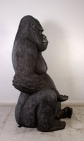 Jumbo Silver Back Gorilla Over Size Statue - LM Treasures