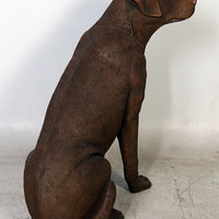 Brown Sitting Labrador Life Size Statue - LM Treasures Life Size Statues & Prop Rental