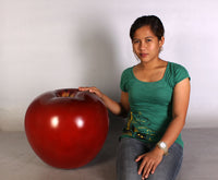 Medium Red Apple Over Sized Statue - LM Treasures Life Size Statues & Prop Rental