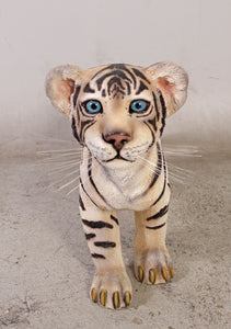 Standing Siberian Tiger Cub Life Size Statue - LM Treasures