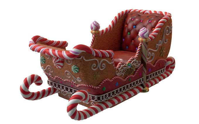 Sleigh Gingerbread (4 Seater) - LM Treasures Life Size Statues & Prop Rental