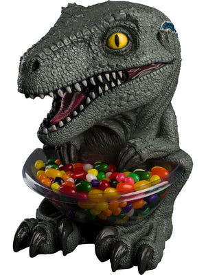 Candy Bowl Holder Jurassic Park T-Rex Mini Blue Half Foam Licensed Statue- LM Treasures