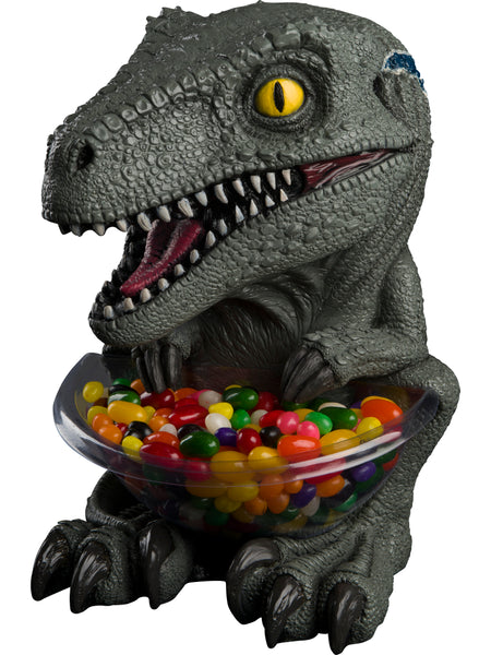 Candy Bowl Holder Jurassic Park T-Rex Mini Blue Half Foam Licensed Statue - LM Treasures