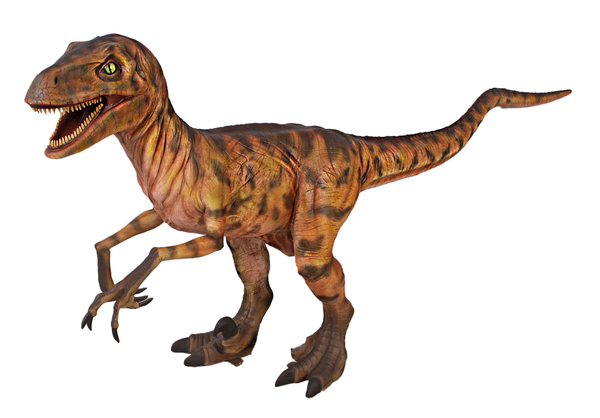 Brown Deinonychus Dinosaur Life Size Statue - LM Treasures Life Size Statues & Prop Rental