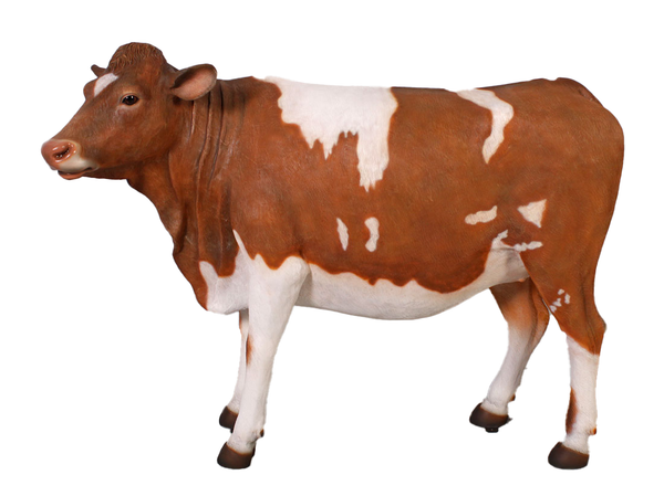 Guernsey Cow Life Size Statue - LM Treasures