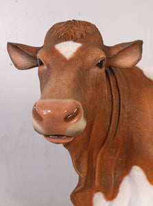 Guernsey Cow Life Size Statue - LM Treasures Life Size Statues & Prop Rental
