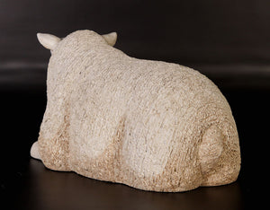 Texelaar Sheep Laying Life Size Statue - LM Treasures