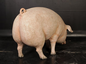 Fat Pig Standing Life Size Statue - LM Treasures