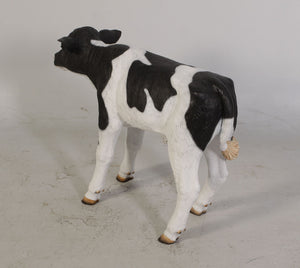 New Born Holstein Calf Life Size Statue - LM Treasures Life Size Statues & Prop Rental