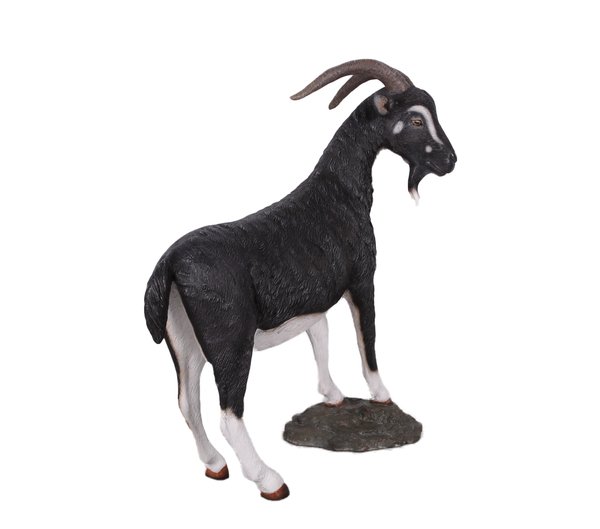 Black Billy Goat Life Size Statue - LM Treasures Life Size Statues & Prop Rental
