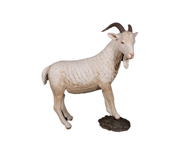 Cream Billy Goat Life Size Statue - LM Treasures Life Size Statues & Prop Rental