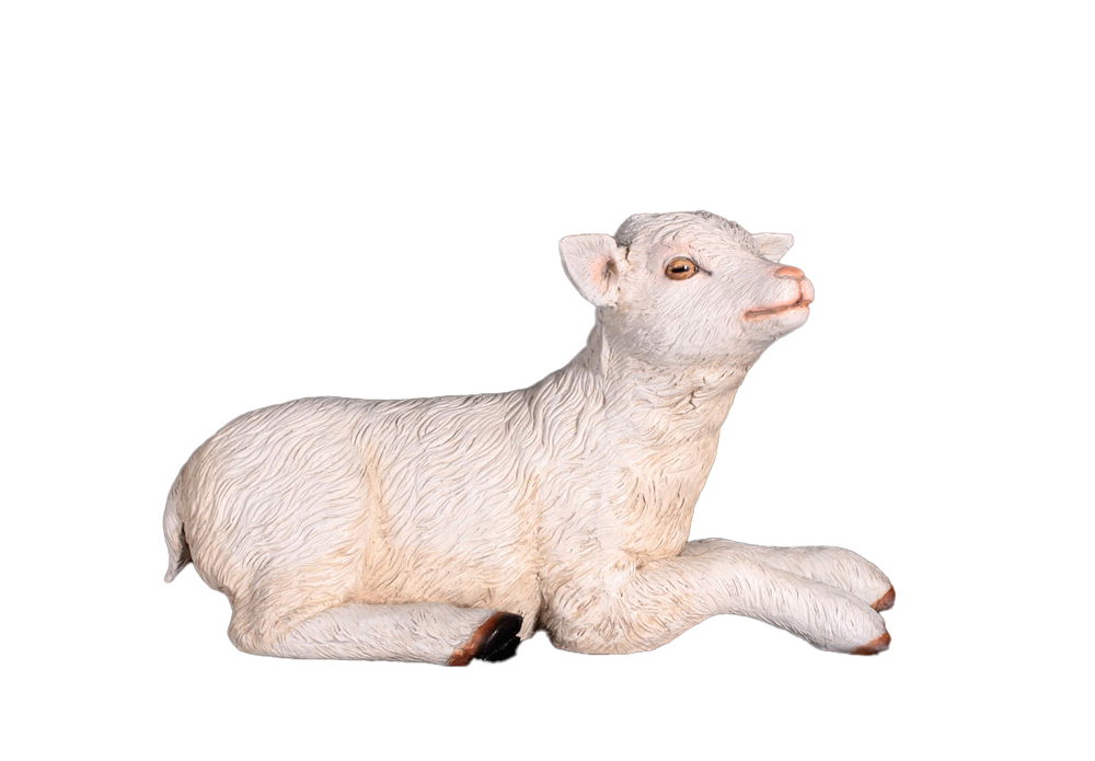 Baby Goat Laying Life Size Statue