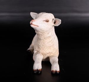 Baby Goat Laying Life Size Statue - LM Treasures Life Size Statues & Prop Rental
