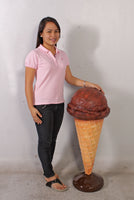 One Scoop Chocolate Ice Cream Over Sized Statue - LM Treasures