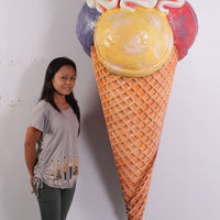 Hanging Three Scoop Ice Cream Over Sized Statue - LM Treasures Life Size Statues & Prop Rental