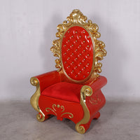 Chair Santa Throne (Gold/Red) Life Size Resin Christmas Statue