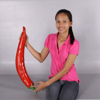 Vegetable Chili Pepper Over Sized Restaurant Prop Resin Statue - LM Treasures