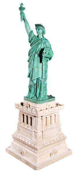 Statue of Liberty on Stand Display Resin Prop Decor
