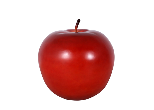Jumbo Red Apple Over Sized Statue - LM Treasures Life Size Statues & Prop Rental