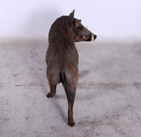 Wild African Warthog Life Size Statue - LM Treasures