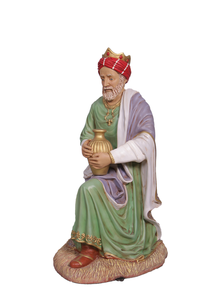 Nativity King Melchior Christmas Life Size Statue - LM Treasures