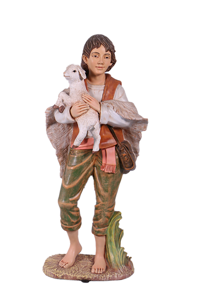 Nativity Shepherd Boy Christmas Life Size Statue - LM Treasures