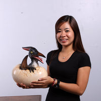 Pteranodon Dinosaur Egg Hatching Life Size Statue - LM Treasures