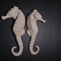Large Stone Seahorse Set Over Sized Statue - LM Treasures Life Size Statues & Prop Rental