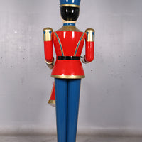 Red Toy Soldier Drummer Over Sized Christmas Statue - LM Treasures