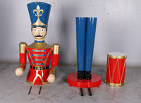 Red Toy Soldier Drummer Over Sized Christmas Statue - LM Treasures Life Size Statues & Prop Rental