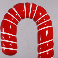 Large Red Candy Cane Over Sized Statue - LM Treasures Life Size Statues & Prop Rental